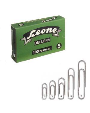 Scatola 100 fermagli n.4 mm32 zincati antiruggine leone FZ4 44687 A FZ4_44687 by Esselte