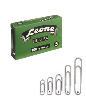 Scatola 100 fermagli n.5 mm49 zincati antiruggine leone FZ5 44688 A FZ5_44688 by Leone