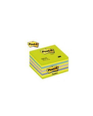 Blocco cubo 450foglietti post-it® 76x76mm 2028-nb neon blu/verde 82424_44718 by Post-it