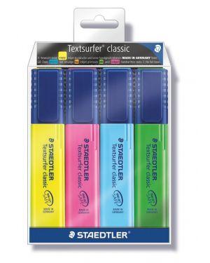 Busta 4 evidenziatori textsurfer classic 364 staedtler 364-WP4_44744