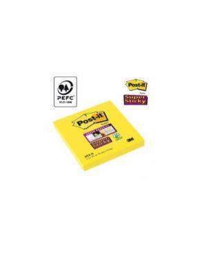 Blocco 90foglietti post it®super sticky 654 s 76x76mm giallo oro CONFEZIONE DA 12 82467_45059