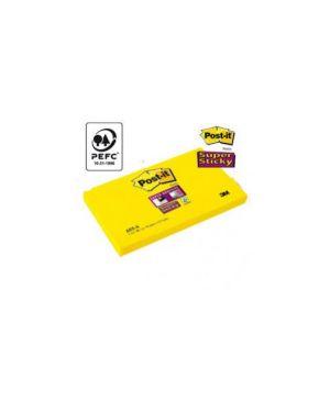 Blocco 90foglietti post-it®super sticky 655-s 76x127mm giallo oro Confezione da 12 pezzi 82470_45060 by Post-it