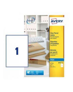 Poliestere adesivo j8567 trasparente 25fg a4 210x297mm (1et - fg) inkjet avery J8567-25 5014702109133 J8567-25_45206 by Avery