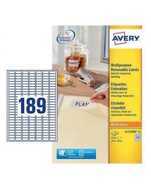 Etichetta adesiva l4731rev bianca rimovibili 25fg a4 25,4x10mm (18et - fg) laser L4731REV-25 5014702108341 L4731REV-25_45213 by Avery