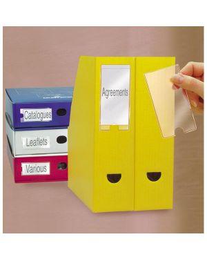 Busta 12 portaetichette ppl adesive trasparenti 22x102mm 10315s 3l S852315_45230 by Esselte