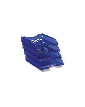 Vaschetta portacorrispondenza e040 blu trasparente modula leonardi E040TB_45370