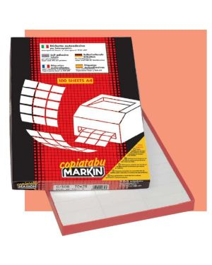 Etichetta adesiva c - 500 bianca rimov. 100fg a4 70x36mm (24et - fg) markin 210C500RIM 8007047021595 210C500RIM_45433 by Markin