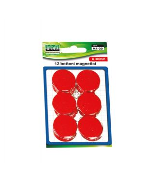 Blister 12 magneti mr-30 rosso diam.30mm MR-30-R 8007509002452 MR-30-R_45529 by Lebez