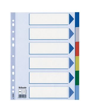 Separatore neutro in ppl 6 tasti colorati f.to a4 esselte 15260 5902812152609 15260_45647 by Esselte