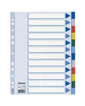 Separatore neutro in ppl 12 tasti colorati f.to a4 esselte 15262_45648 by Esselte