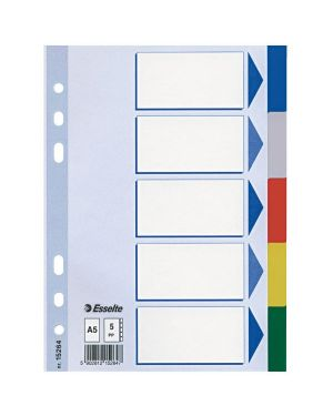 Separatore neutro in ppl 5 tasti colorati f.to a5 esselte 15264 5902812152647 15264_45649 by Esselte