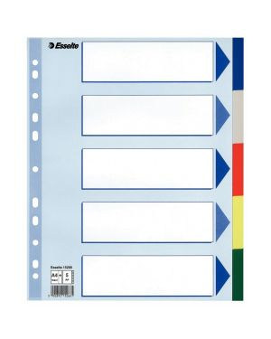 Separatore neutro in ppl 5 tasti colorati f.to a4 maxi 24,5x29,7cm esselte 15266_45650 by Esselte