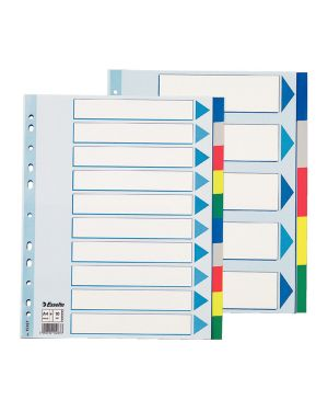 Separatore neutro in ppl 10 tasti colorati f.to a4 maxi 24,5x29,7cm esselte 15267_45651 by Esselte