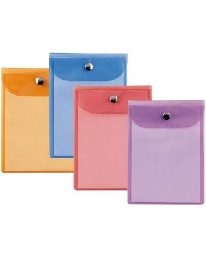 Busta con bottone press 2 color 9,5x12cm - assortite 42091299 8004972015132 42091299_45780