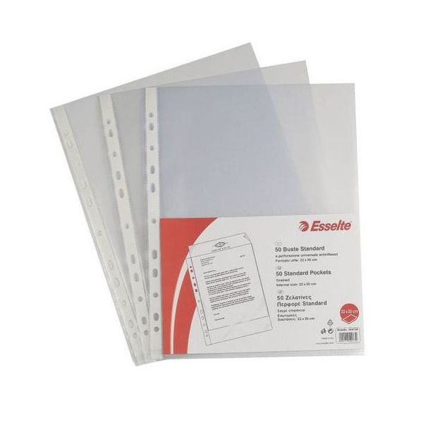 50 buste forate 22x30 6 - 100 b.a. standard esselte 395097300 8004157509739 395097300_45788 by Esselte