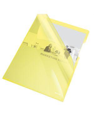 25 cartelline a l 21x29,7 pvc liscia cristallo giallo esselte 55431_45797