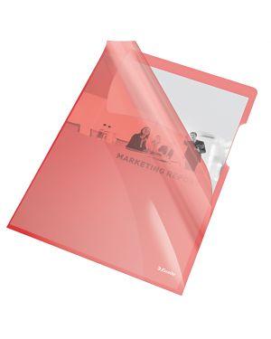 25 cartelline a l 21x29,7 pvc liscia cristallo rosso esselte 55433_45798