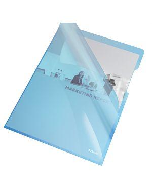 25 cartelline a l 21x29,7 pvc liscia cristallo blu esselte 55435_45799