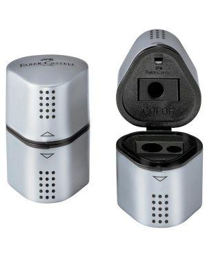 Temperamatite 3 fori grip 2001 silver c - doppio serbatoio faber castell 183800 4005401838005 183800_45825 by Faber-castell