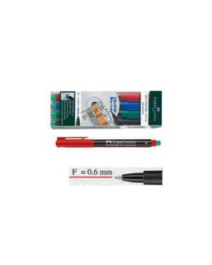 Busta 4 colori pennarello multimark 0,6mm fine faber-castell 151304_45933 by No