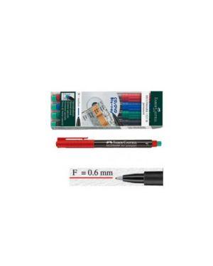 Busta 4 colori pennarello multimark 0,6mm fine faber-castell 151304_45933