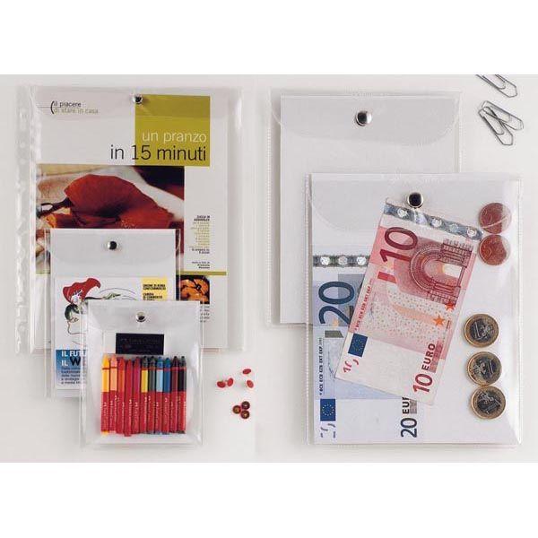 Busta con bottone press 2e 9,5x12cm 440912 8004972004976 440912_46760 by Esselte