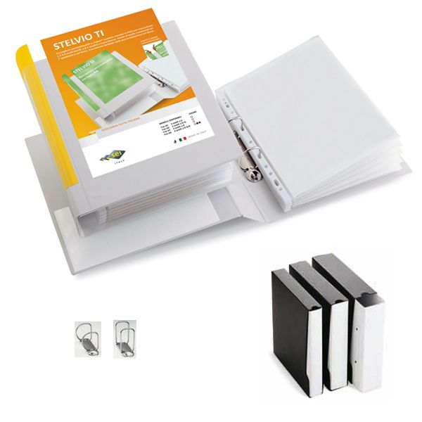 Raccoglitore stelvio ti 65 a4 2q 22x30cm bianco personalizzabile sei rota 35654601 8004972014357 35654601_46839 by Esselte