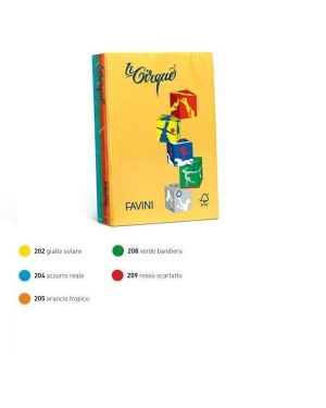Carta lecirque a4 80gr 500fg mix 5 colori intensi favini A71X514_47421
