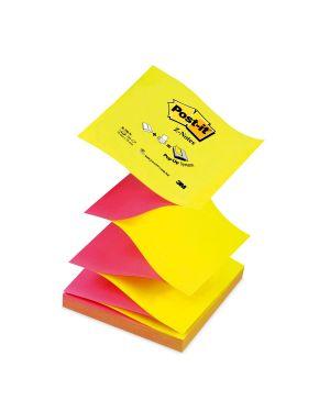 Blocco post it®super sticky z notes 76x76mm 100fg r330na giallo rosa neon CONFEZIONE DA 6 24367_47468 by Esselte