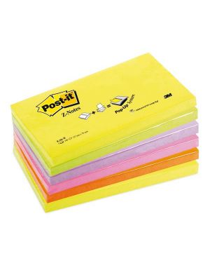 Blocco post-it®super sticky z-notes 76x127mm 100fg r350nr assort.neon 8029 4001895845710 8029_47469 by Esselte
