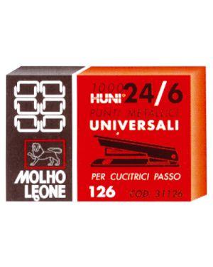 Punti leone 126  passo 24 - 6 pz.1000 MOLHO LEONE 31126 8002057311261 31126_47717 by Esselte