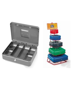 Cassetta portavalori secur 20x16x9cm grigio chiaro 2153/2A 8022715004656 2153/2A_47842 by Esselte