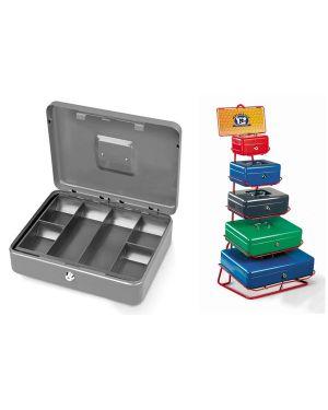 Cassetta portavalori secur 25x18x9cm grigio chiaro 2153/3A 8022715001952 2153/3A_47843