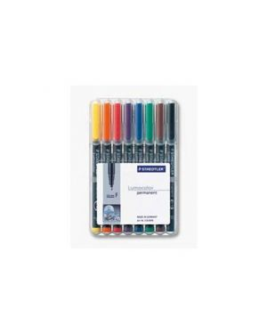 Busta 8 pennarelli lumocolor permanent 317 m 1.0mm 317WP8_47925