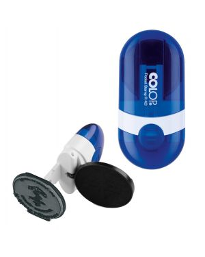 Timbro pocket stamp r40 diametro 40mm 5righe autoinchiostrante blu colop POCKET.R40.BLU 9004362383437 POCKET.R40.BLU_48006 by Colop