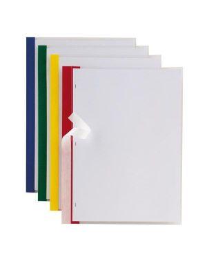 10 cartelline poli 200 210x297mm pp trasparente dorso rosso sei rota 66230512_48071 by Esselte