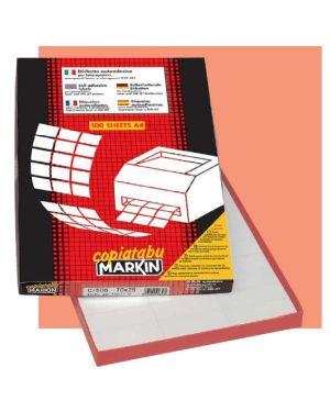 Etichetta adesiva r - 300 bianca 100fg a4 tonda Ø20mm (88et - fg) markin 210R300 8007047024695 210R300_48535 by Markin