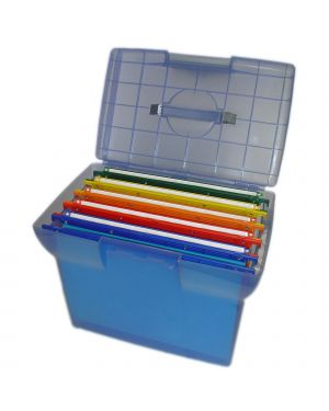 Valigetta arianna blu traslucido + 5 cartelle joker color int.33 Arianna BL5 8058983260104 Arianna BL5_49405 by Bertesi