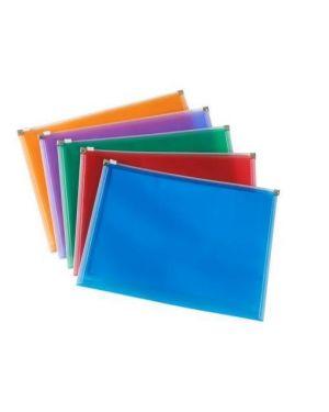 Busta c - zip colori assortiti a4 Rexel 1600121 8004389080426 1600121_49467