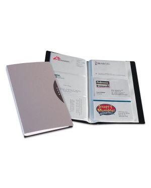 Portabiglietti visita 120 tasche silver c/custodia 40349_49554