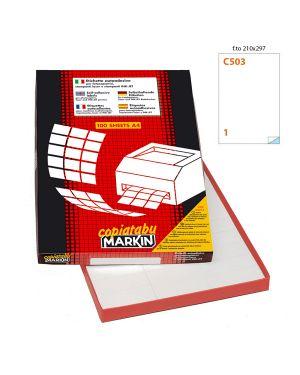 Etichetta adesiva c - 503 bianca extra forte 100fg a4 21x29,7cm (1et - fg) markin 210C503SP 8007047030009 210C503SP_49692 by Markin