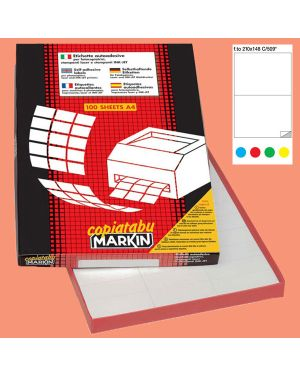 Etichetta adesiva c - 509 blu 100fg a4 210x148mm (2et - fg) markin 210C509BL 8007047923929 210C509BL_49694 by Markin