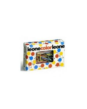 Scatola 100 fermagli colorati e metallizzati n.3 mm28 leone color Confezione da 10 pezzi FX103_49763 by Leone