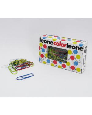 Scatola 100 fermagli colorati e metallizzati n.3 mm28 leone color FX103 49763 A FX103_49763