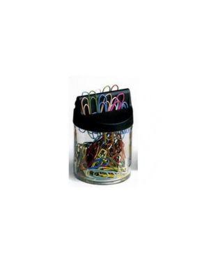 Dispenser magnetico 60 fermagli colori metal n.4 mm32 leone color FXM4_49765-1