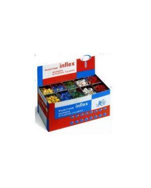 Scatola 50 puntine rosso inflex Confezione da 10 pezzi PP50T10 ROSSO_49770 by Leone