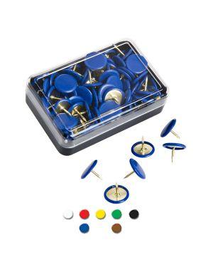 Scatola 50 puntine blu inflex PP50T10 BLU 49773 A PP50T10 BLU_49773 by Esselte