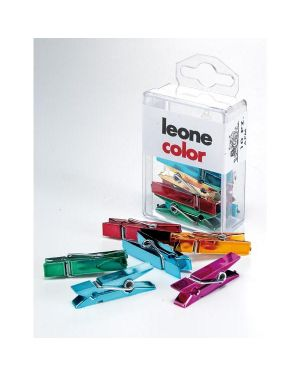 Scatola 10 mini mollette colori metal assort.leone color APM 8007979009074 APM_49939 by Leone