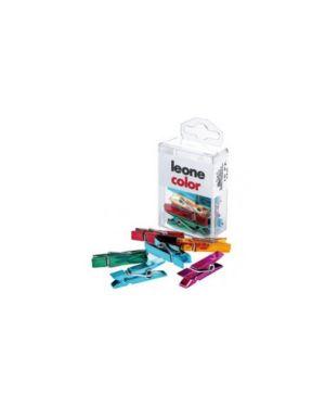 Scatola 10 mini mollette colori metal assort.Leone color APM_49939 by Leone