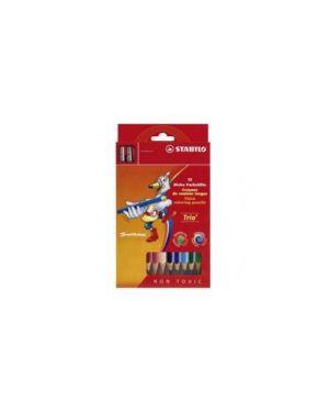 Astuccio 12 maxi pastelli colorati stabilo trio maxi 203/2-12_49976 by Esselte